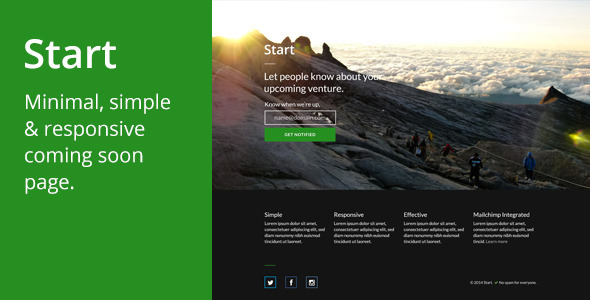 ThemeForest Start Coming Soon Page 8349704