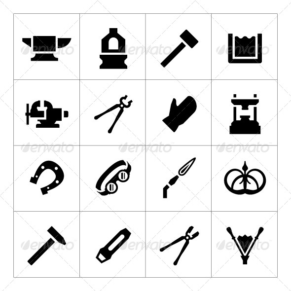 GraphicRiver Set Icons of Forge 8466301