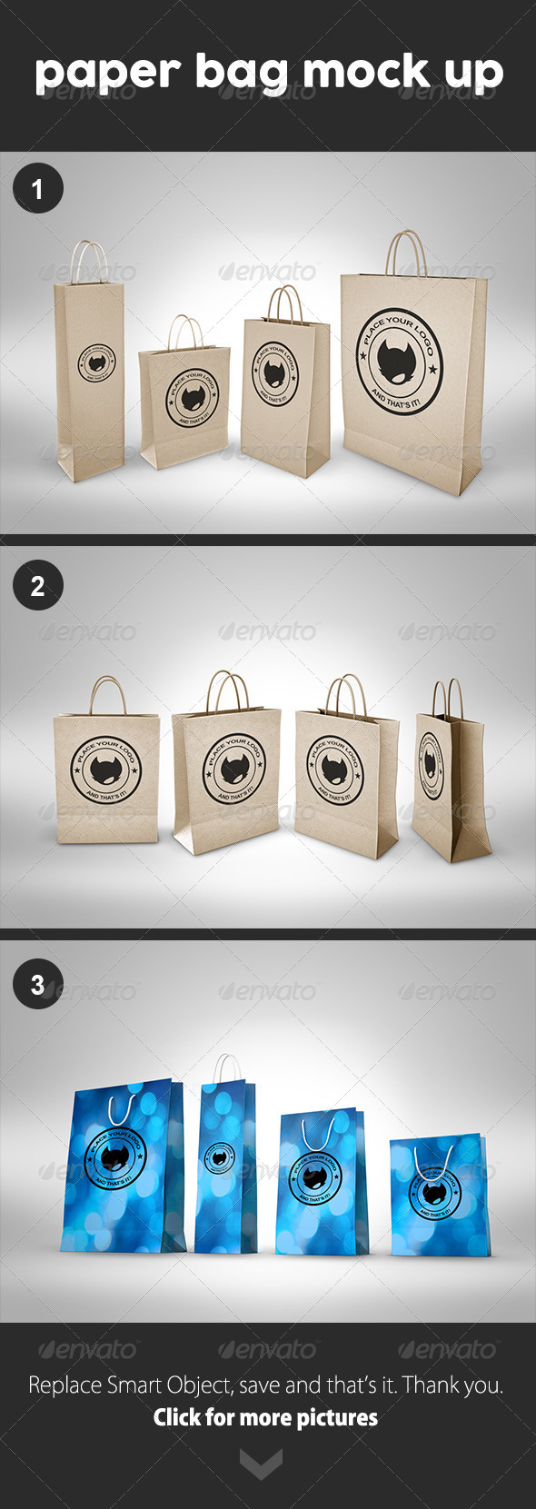 GraphicRiver Paper Bag Mock Up 8466305