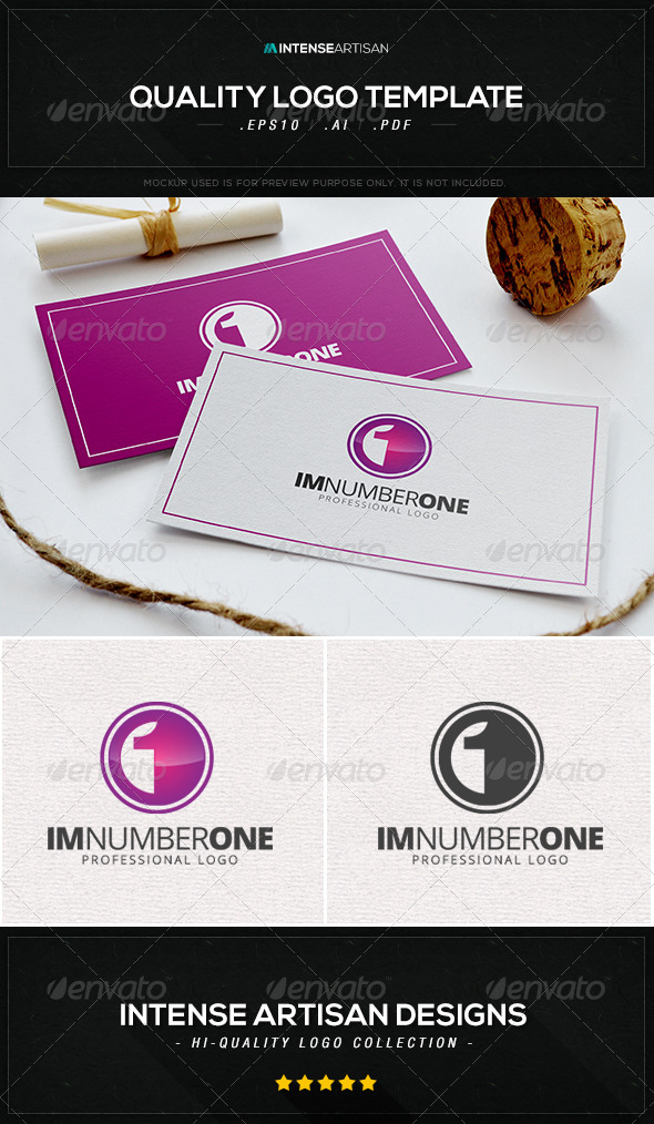 GraphicRiver Im Number One Logo Template 8448100