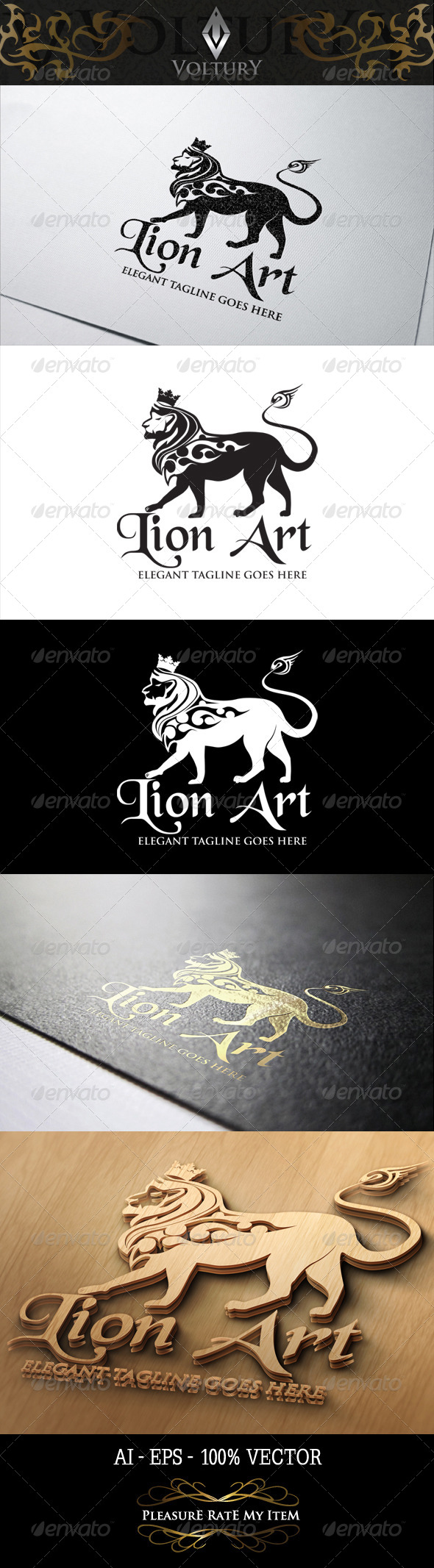 GraphicRiver Lion Art Logo 8466535