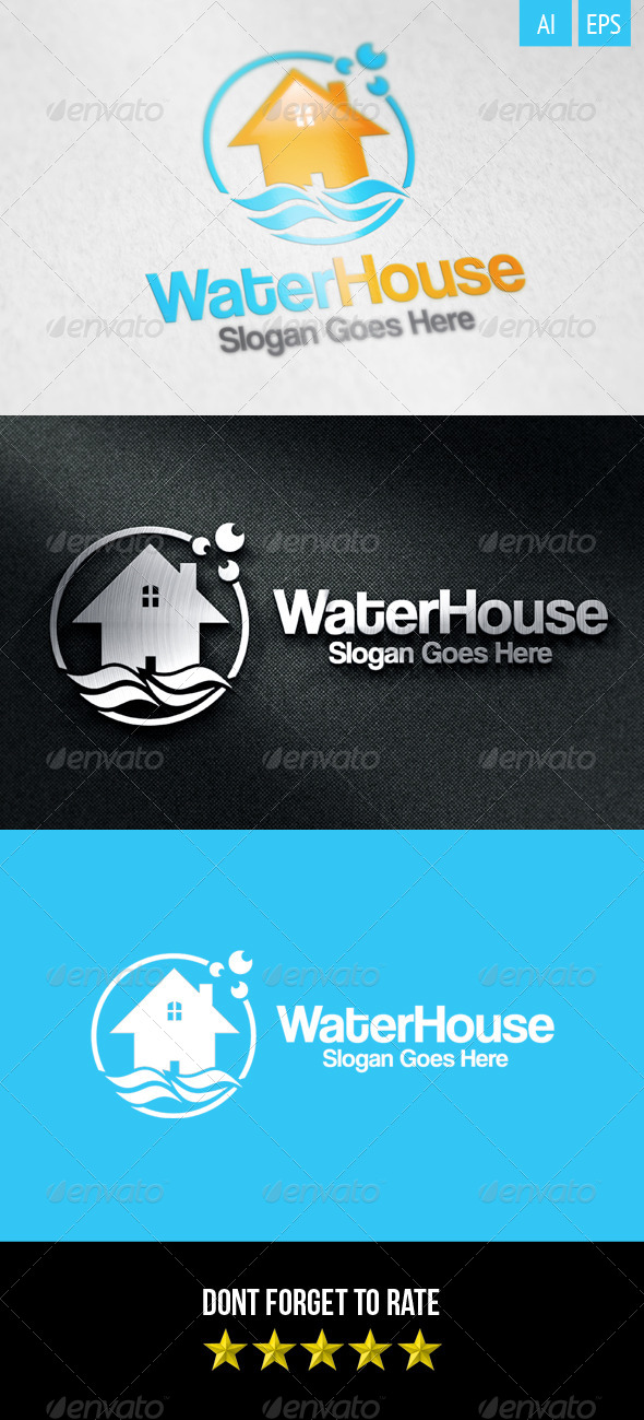 GraphicRiver Water House Logo 8466758