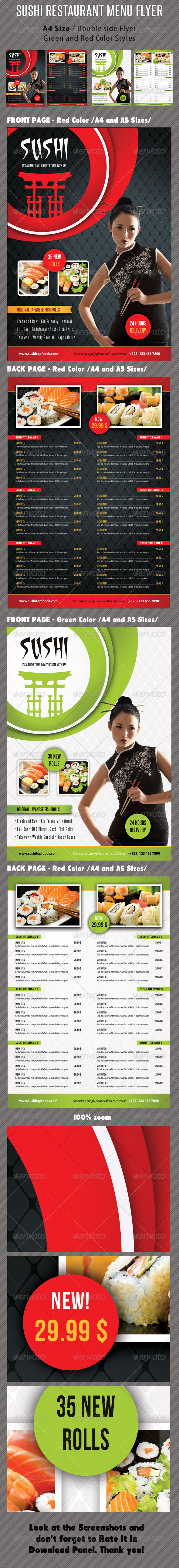 GraphicRiver Sushi Restaurant Menu Flyer V04 8466774