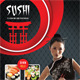 Sushi Restaurant Menu Flyer V04