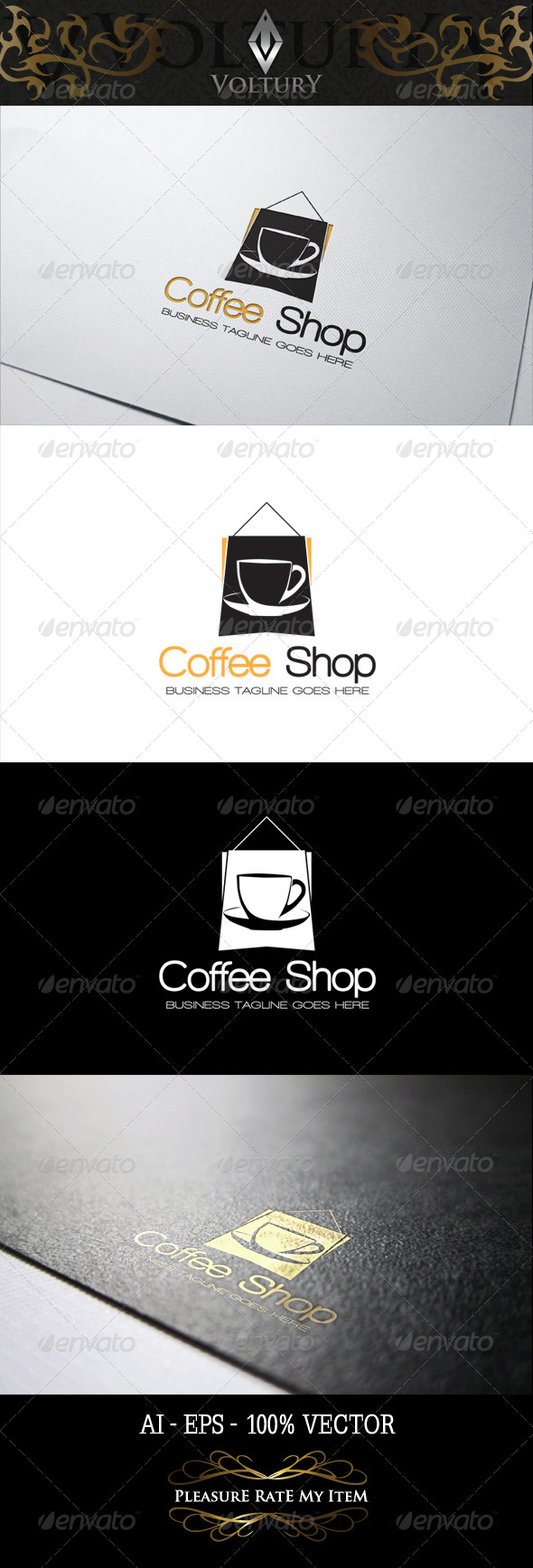 GraphicRiver Coffee Shop Logo 8466908