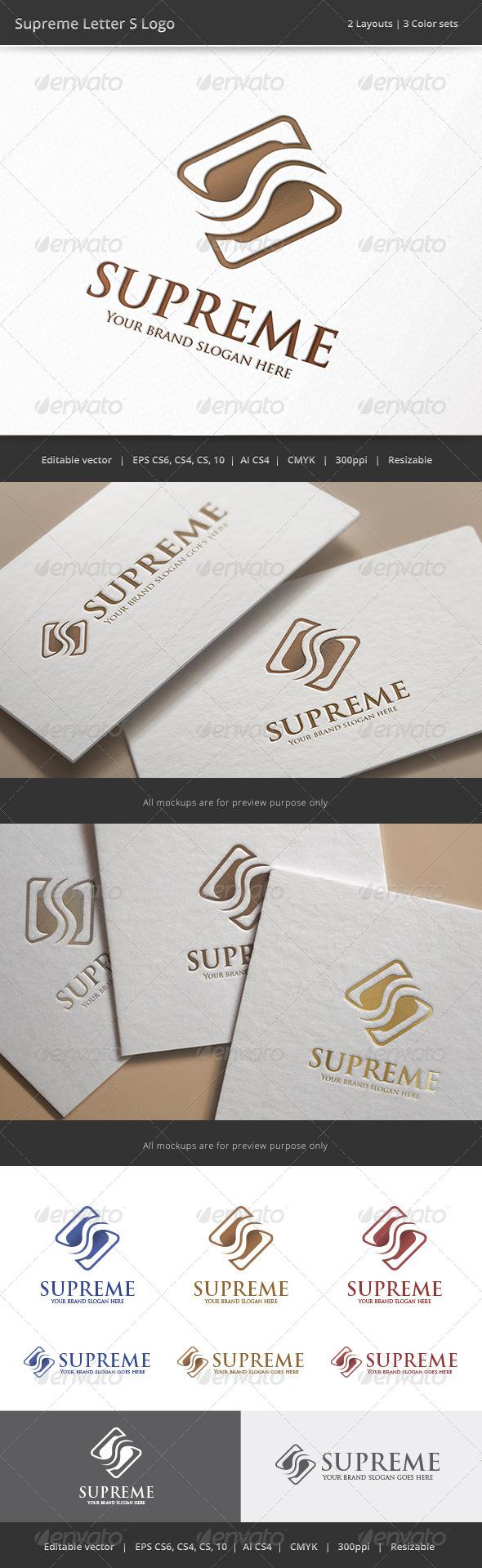 GraphicRiver Supreme Letter S Logo 8466938