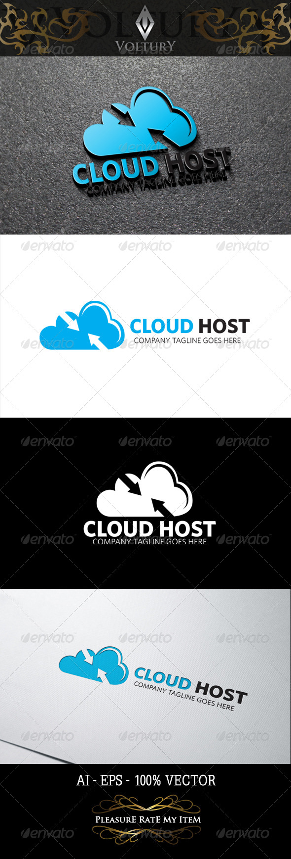 GraphicRiver Cloud Host Logo 8466943