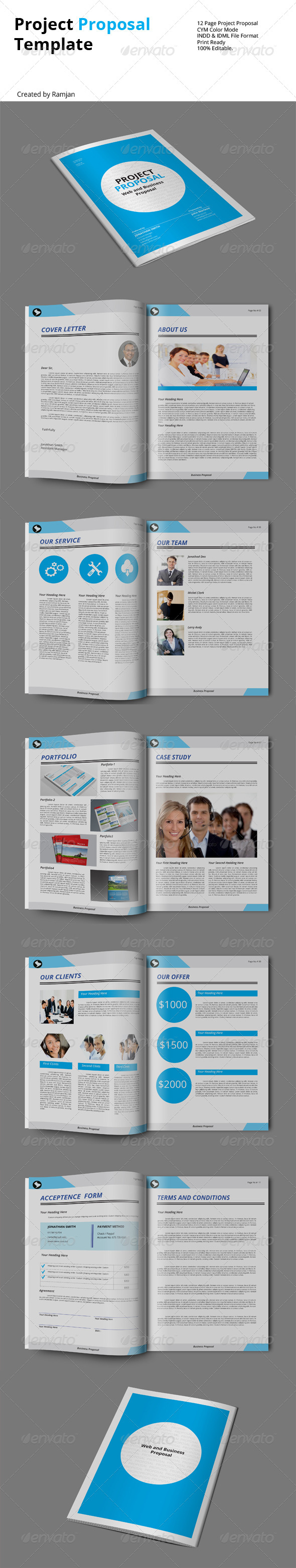 GraphicRiver Project Proposal Template 8466948