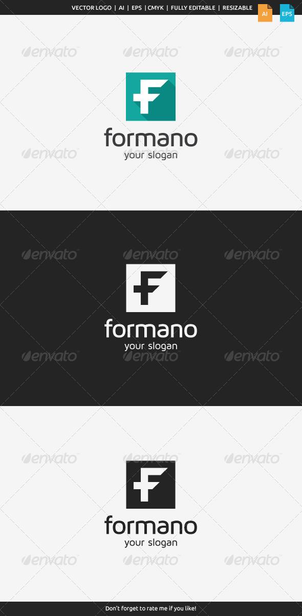 GraphicRiver Formano F Logo 8466953
