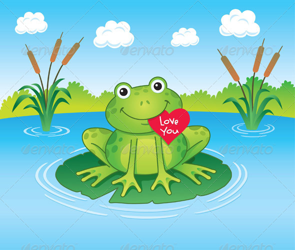 GraphicRiver Valentines Day Frog 8467004