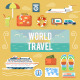 Traveling and Planning Summer Vacation Set - GraphicRiver Item for Sale