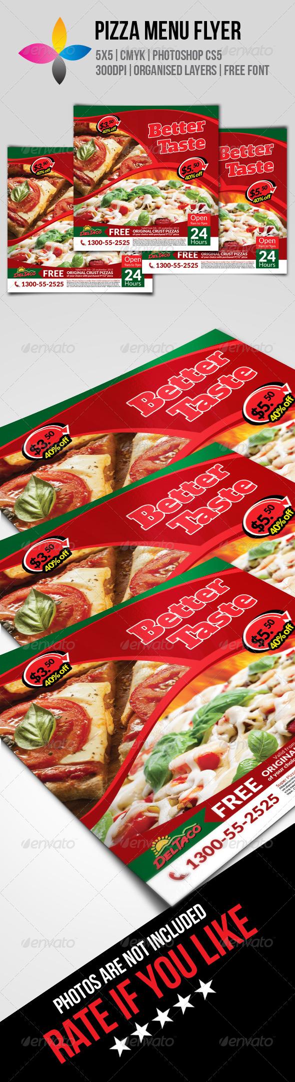 GraphicRiver Pizza Menu Flyer 8467095