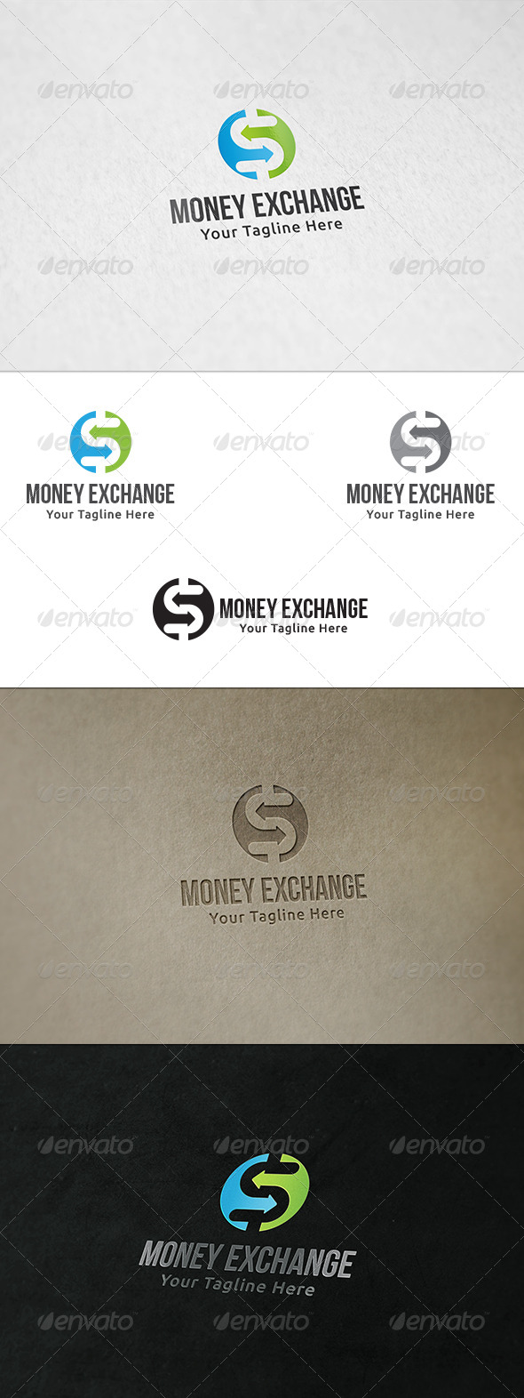 GraphicRiver Money Exchange Logo Template 8467277