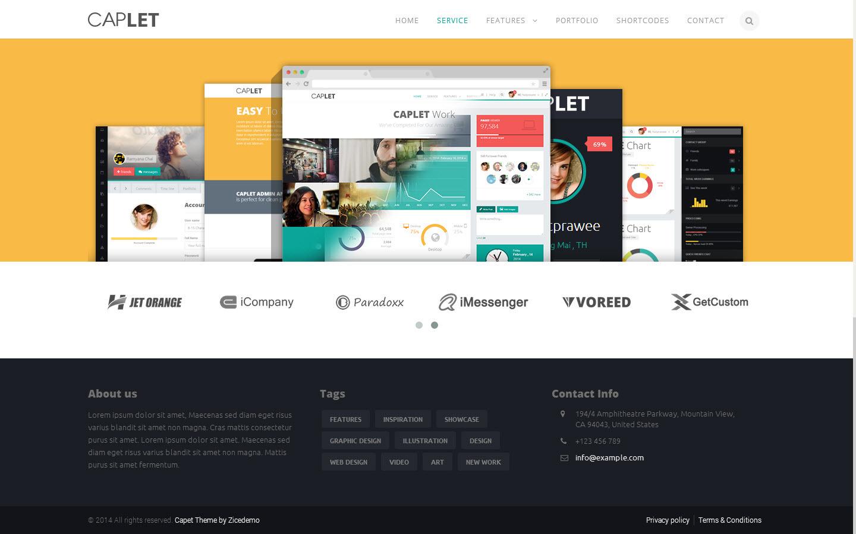 Caplet Admin Responsive HTML Theme