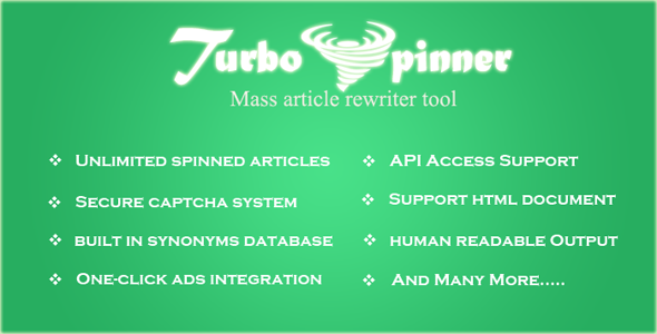 CodeCanyon Turbo Spinner Article Rewriter 8467415