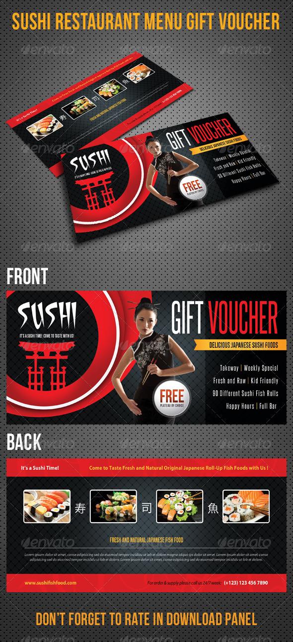 GraphicRiver Sushi Restaurant Menu Gift Voucher V24 8467457