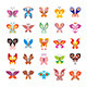 Butterfly icon Set - GraphicRiver Item for Sale