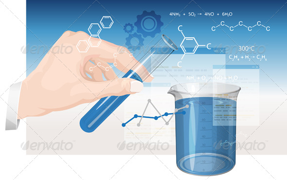GraphicRiver Chemistry Experiments Illustration 8467583