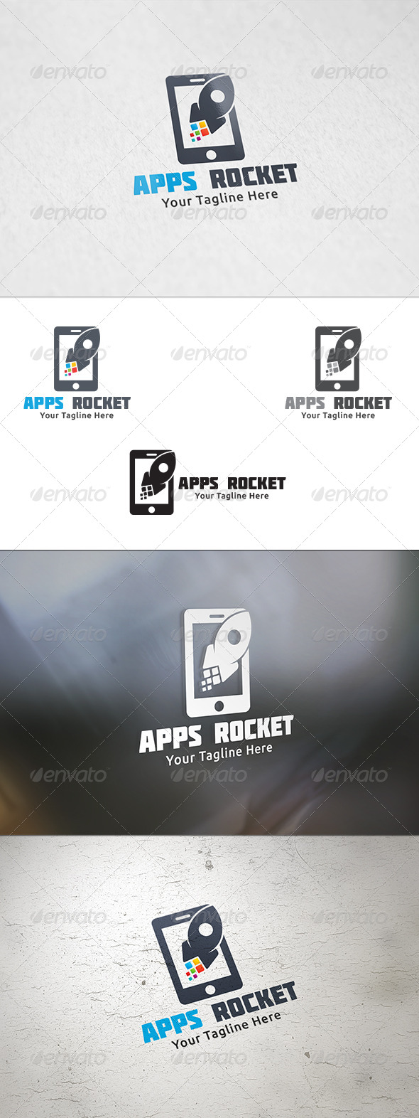 GraphicRiver Apps Rocket Logo Template 8467585