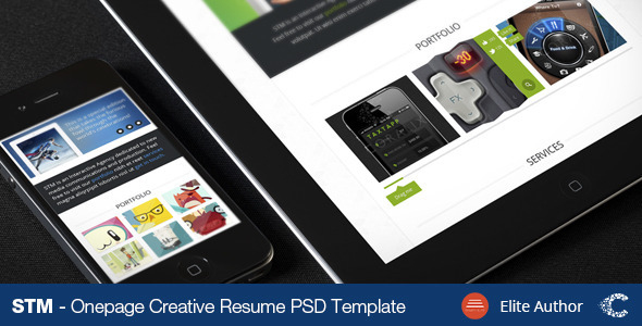 STM One Page Creative Theme - Creative PSD Templates