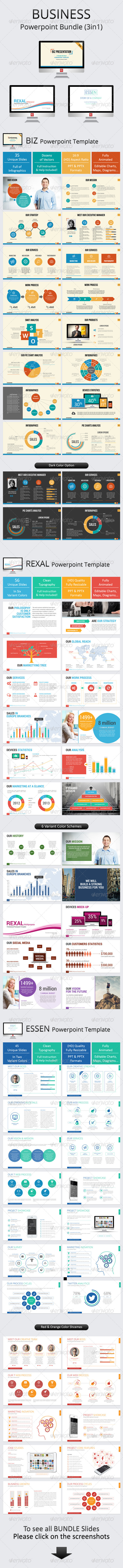 GraphicRiver Business Powerpoint Bundle 8467693
