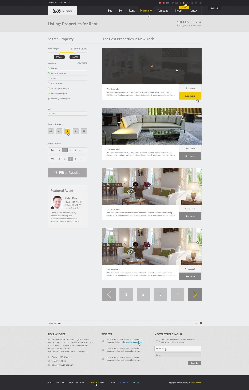 Luxury Real Estate | PSD Theme