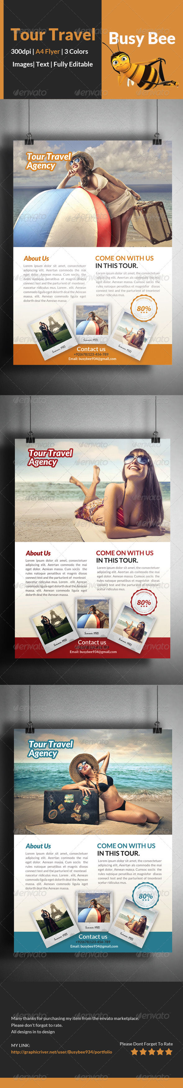 GraphicRiver Tour & Travel Flyer Template 8467935