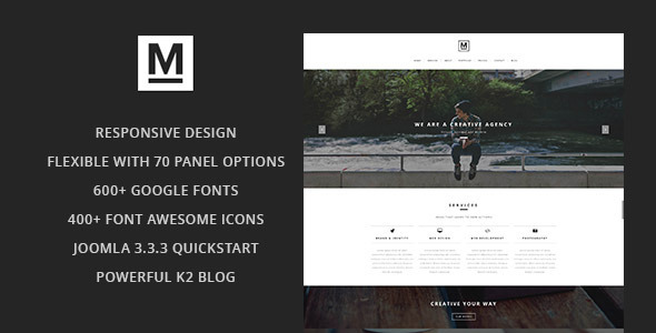 ThemeForest Max Creative & Minimal One Page Joomla Template 8467938