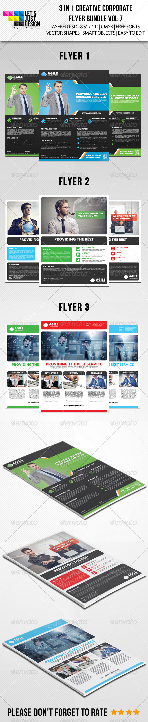 GraphicRiver Creative Corporate Flyer Pack Vol 7 8468239