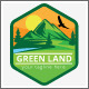 Green Mountain High Land Label Logo - GraphicRiver Item for Sale