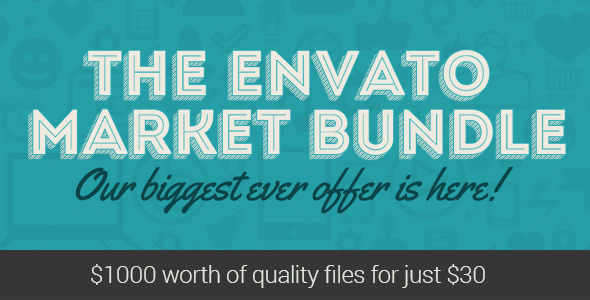 ThemeForest The Envato Market Bundle is on for 1 Week 8468659