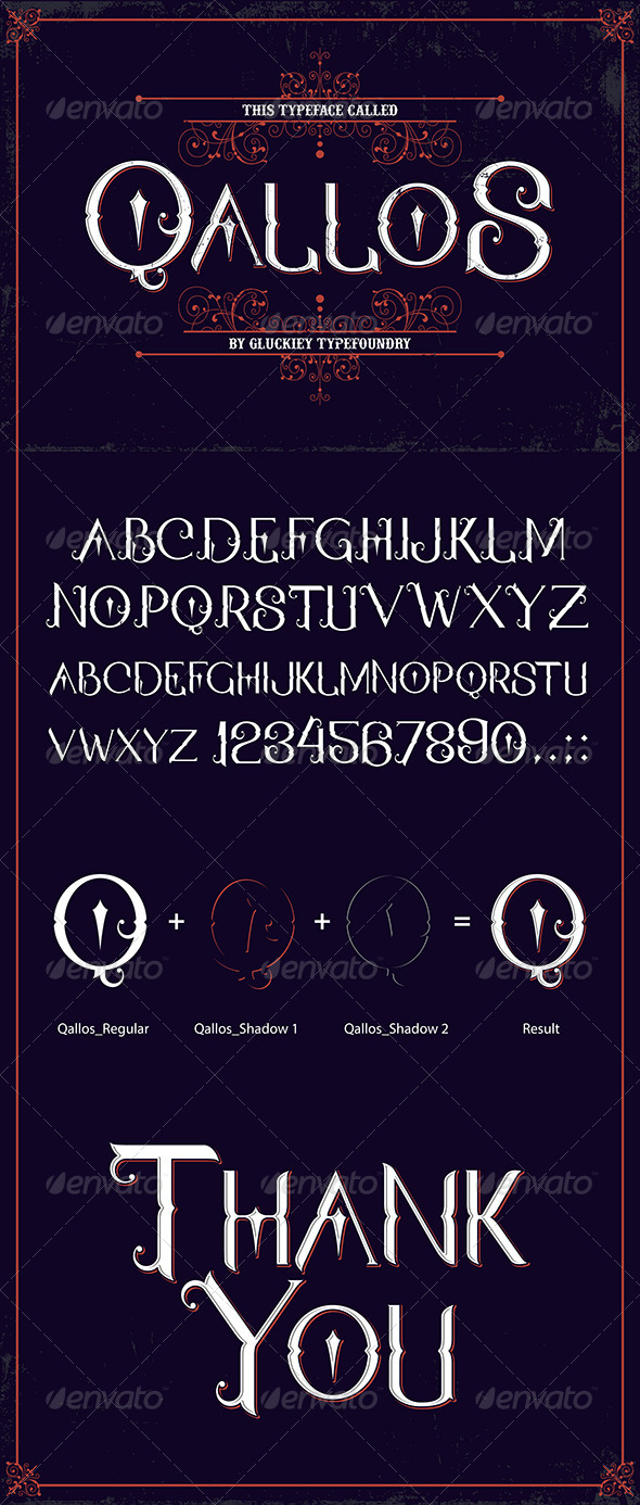 GraphicRiver Qallos Typeface 8468761