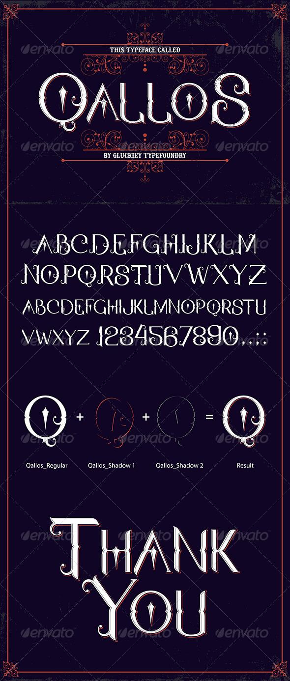 GraphicRiver Qallos Typeface 8468761