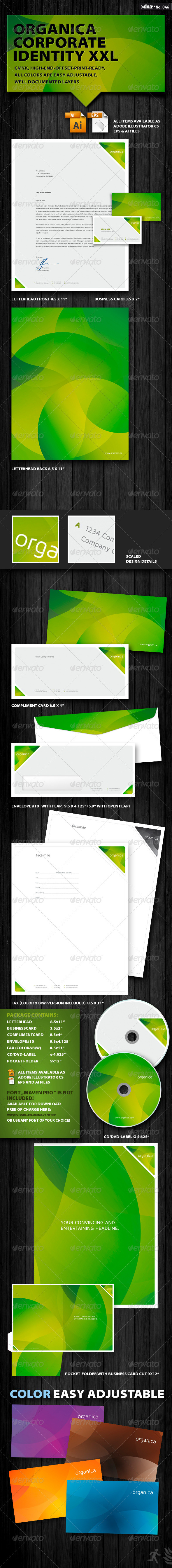 Organica Corporate Identity XXL - Stationery Print Templates