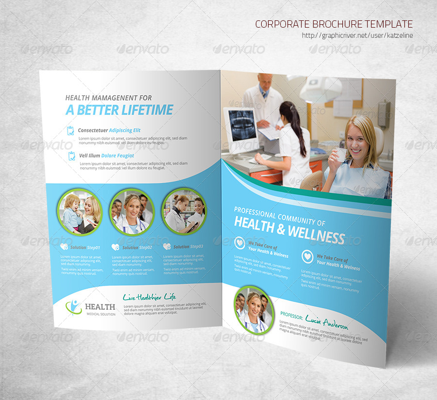 Health Medical Care Bifold Brochure Template by katzeline – Health Brochure Template