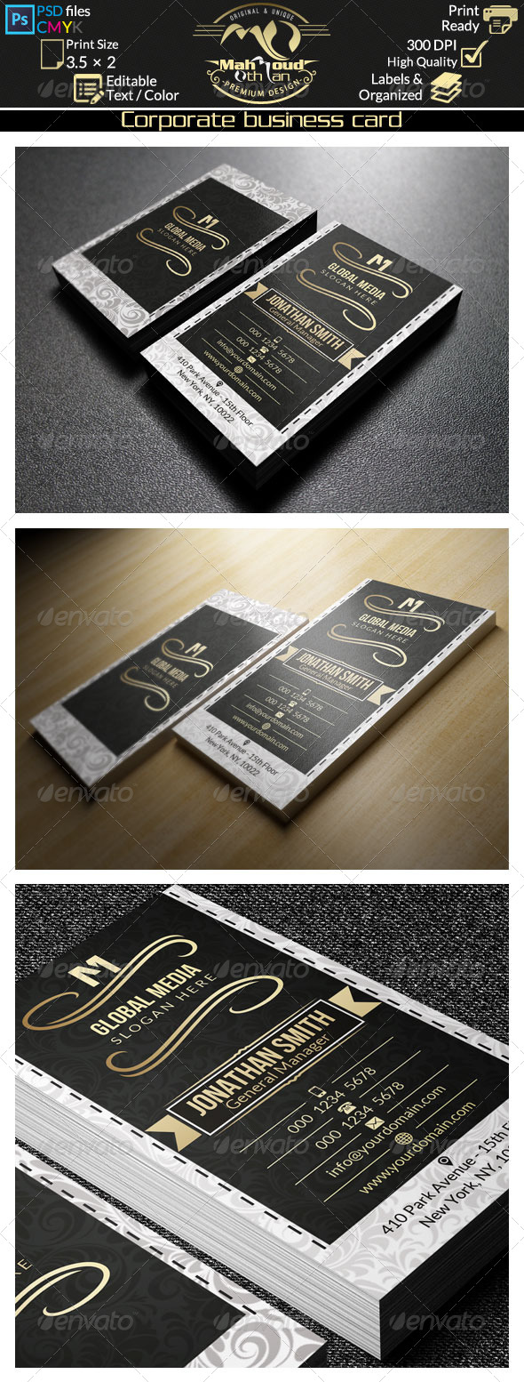 GraphicRiver Gold Corporate Business Card 38 8469110