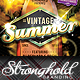 Vintage Summer Surfboard Flyer Template - GraphicRiver Item for Sale