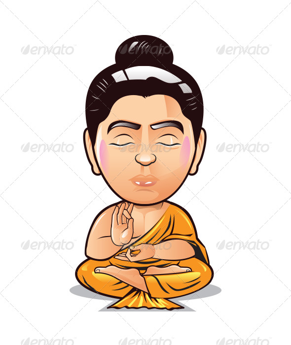 GraphicRiver Buddha Bobble Head 8467933