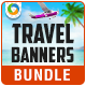 Travel Banner Set Bundle - 3 Sets - GraphicRiver Item for Sale