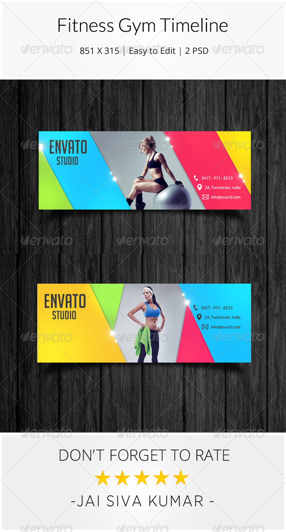 GraphicRiver Fitness Gym Facebook Timeline 8469269