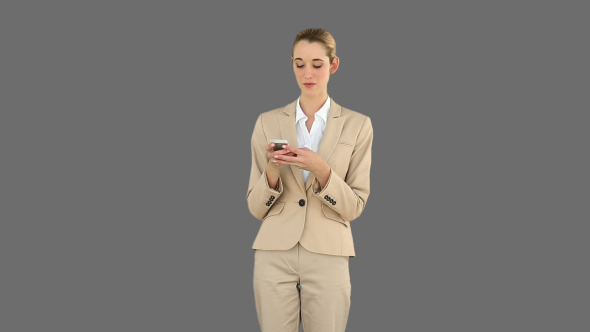 Businesswoman Texting On The Phone 4