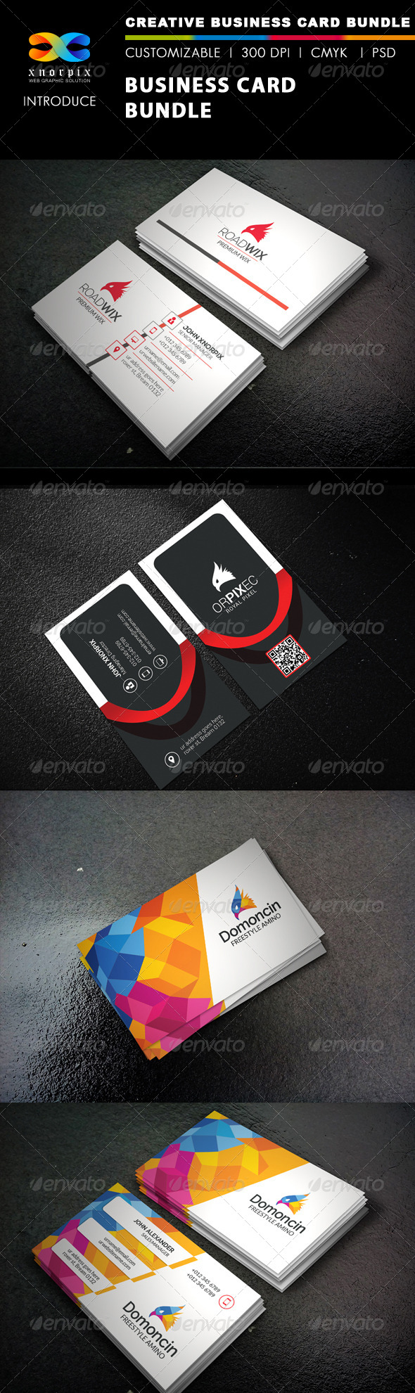 GraphicRiver Business Card Bundle 3 in 1-Vol 40 8469320