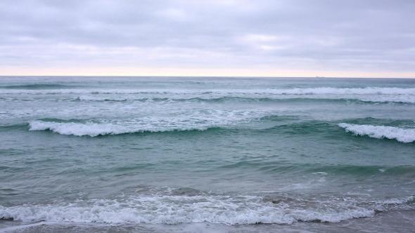 Waves Crashing On The Beach 1
