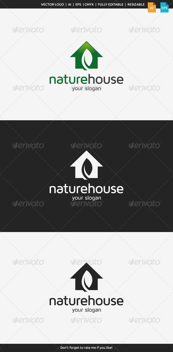 GraphicRiver Nature House Logo 8469351