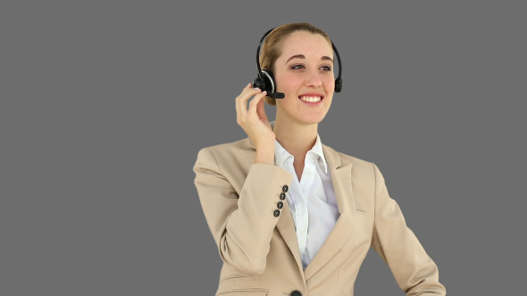 Call Centre Agent Talking On The Headset 2