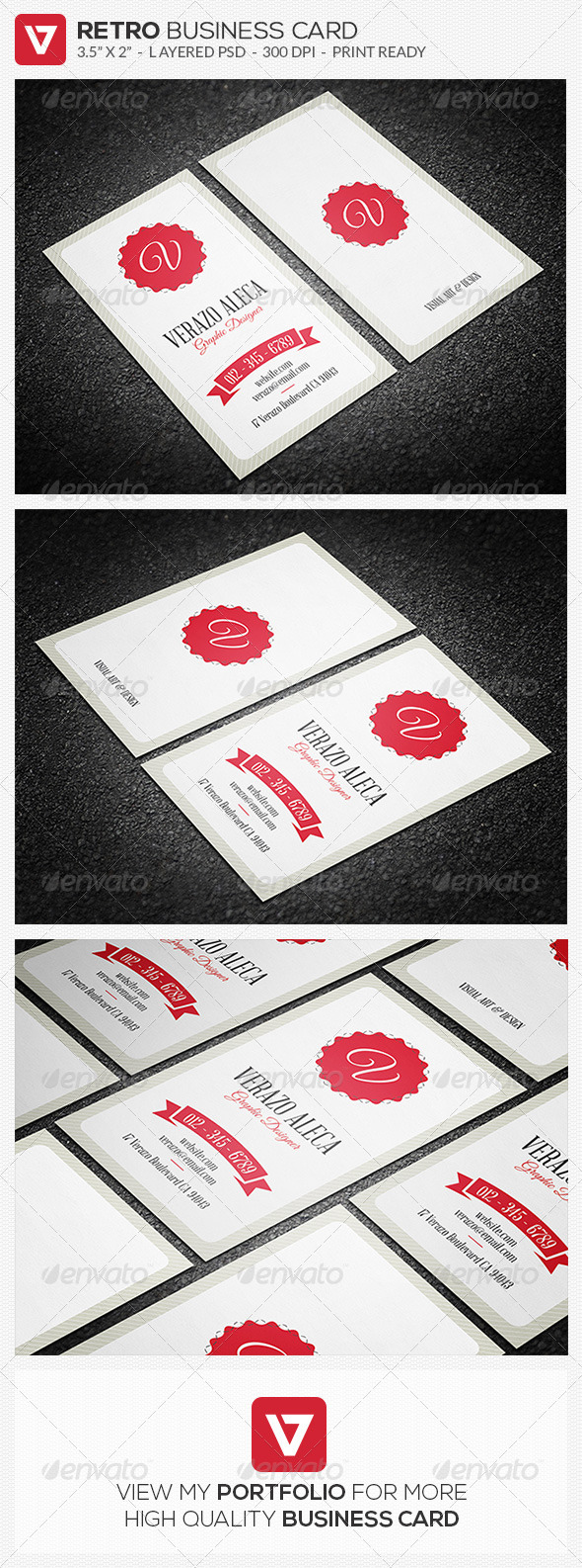 GraphicRiver Retro Vintage Business Card 02 8469370