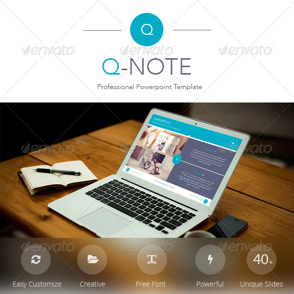 GraphicRiver Q-Note Powerpoint Template 8465964