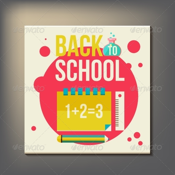 GraphicRiver Back to School Design Template 8469433