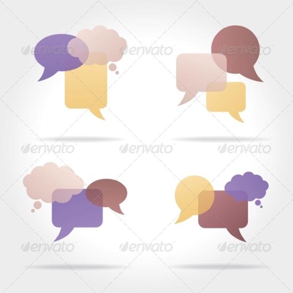 GraphicRiver Set of Colorful Speech Bubbles 8469434