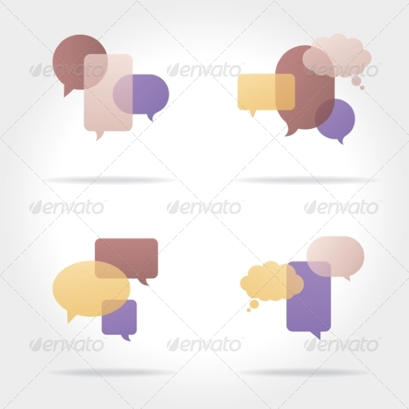 GraphicRiver Set of Colorful Speech Bubbles 8469437